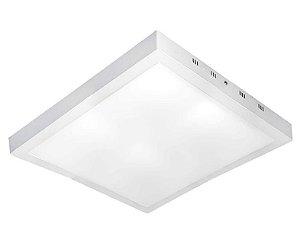 Painel Plafon LED Sobrepor 62x62 Quadrado 36W Bivolt