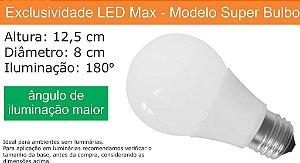 Lampada Led Super Bulbo 9w - Bivolt - Branco Frio 6000 K (Bulbo Grande) (Luz Branca)