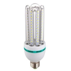Lâmpada Econômica LED 12W 3U Bivolt 6000K Branco Frio Inmetro