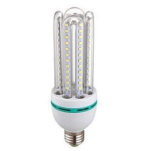 Lâmpada Econômica LED 24W 4U Bivolt 6500K Branco Frio Inmetro