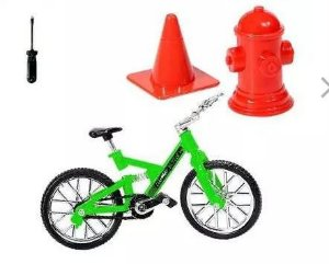 Bicicleta de Dedo com Suspensão e Obstáculo