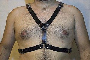 Harness em Couro Preto Y