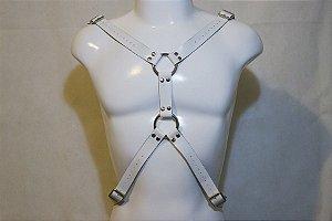 Harness em Couro Branco Y