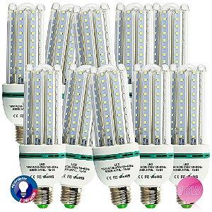 Lâmpadas LED Super Econômica E27 16W, 6500K kit com 10 lampadas