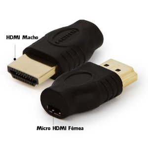 Adaptador HDMI macho para Micro HDMI fêmea