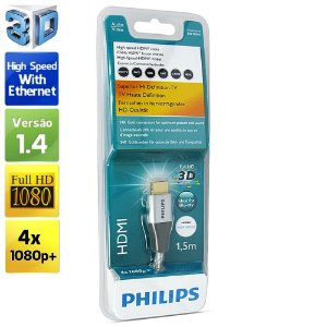 Cabo HDMI 1.4 4K Full HD, Philips