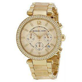 Relógio Feminino Michael Kors MK5632 Dourado Madreperola Strass