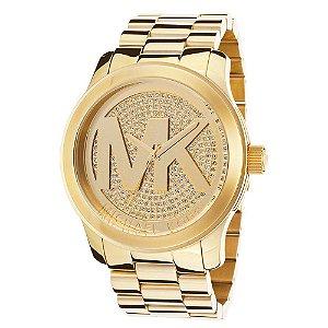 Relógio Feminino Michael Kors MK5706 Dourado Cravejado