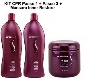 Kit Senscience CPR Reconstrutor (2 x 1L) + Máscara Inner Restore Intensif 500ml