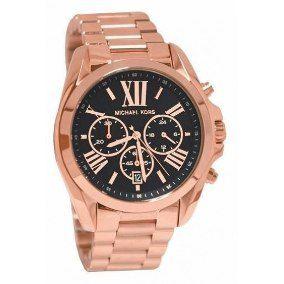 Relógio Feminino Michael Kors MK5854 Rose Fundo Preto
