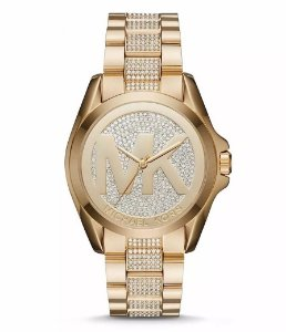 Relógio Feminino Michael Kors MK6487 Dourado Cravejado