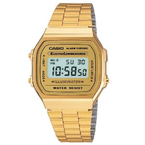 Relógio Unissex Casio Vintagem A168wg-9wd Dourado