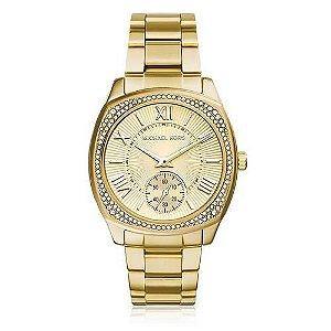 Relógio Feminino Michael Kors Mk6134 Dourado Cravejado