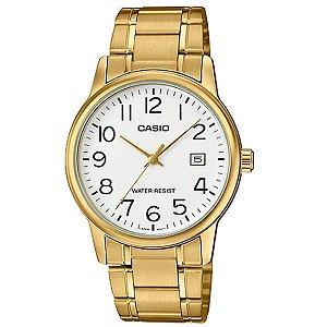 Relógio Unissex Casio Modelo MTP-V002G-7B2UDF Dourado