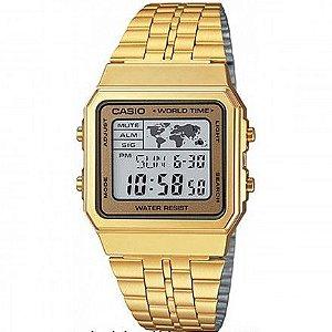 Relógio unissex Casio Modelo A500WGA-9DF Dourado