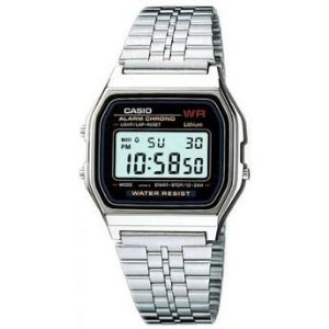 Relógio Unissex Casio vintage Digital Modelo A159W-N1DF Prata