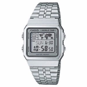 Relógio Unissex Casio Vintage Digital  Modelo A500WA-7DF Prata