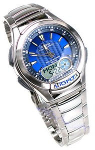 Relógio Masculino Casio Vintage Digital Modelo AQ-180WD-2AVDF Prata