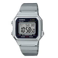 Relógio Unissex Casio Vintage Digital Modelo B650WD-1ADF Prata