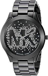 Relógio Feminino Michael Kors Mk3589 Preto Slim