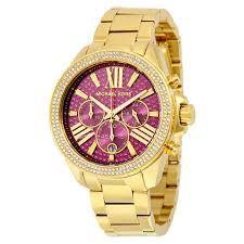 Relógio Feminino Michael Kors Mk6290 Dourado Cravejado