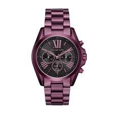 Relógio Feminino Michael Kors Mk6398 Roxo Fundo Preto