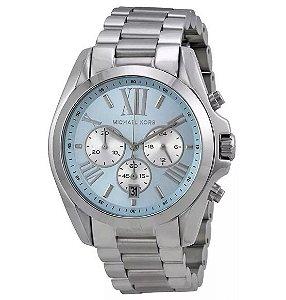Relógio Feminino Michael Kors MK6099 Prata fundo Azul