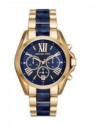 Relógio Feminino Michael Kors MK6268 Dourado Fundo Azul
