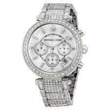Relógio Feminino Michael Kors Mk5572 Cravejado Prata