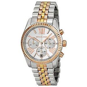 Relógio Feminino Michael Kors MK5735 Prata com Rose Oversize