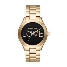 Relógio Feminino Michael Kors MK3803 Dourado Fundo preto