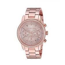 Relógio Feminino Michael Kors MK6357 Rose Cravejado
