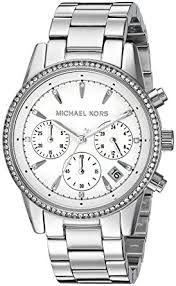 Relógio Feminino Michael Kors MK6228 Prata Cravejado