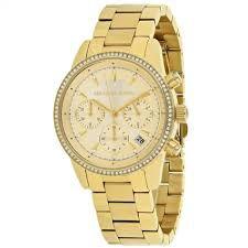 Relógio Feminino Michael Kors MK6356 Dourado Cravejado