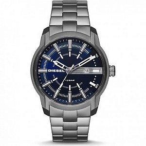 Relógio Masculino Diesel DZ1768 Prata Fundo Azul