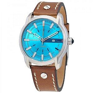 Relógio Masculino Diesel DZ1815 Couro Fundo Azul