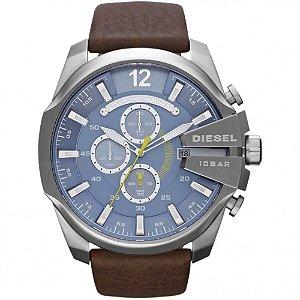 Relógio Masculino Diesel DZ4281 Couro Fundo Azul