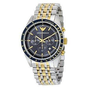 Relógio Masculino Empório Armani AR6088 Fundo Azul