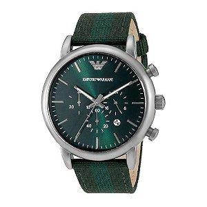 Relógio Masculino Empório Armani Ar1950 pulseira verde Fundo Verde