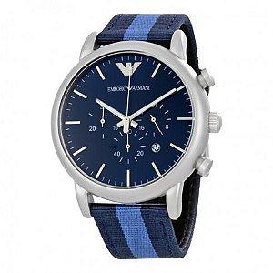Relógio Masculino Empório Armani Ar1949 Azul