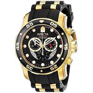 Relógio Masculino invicta Pro Diver 6981 Ouro 18K