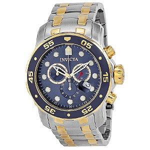 Relógio Masculino Invicta Pro Diver 0077 Ouro 18K
