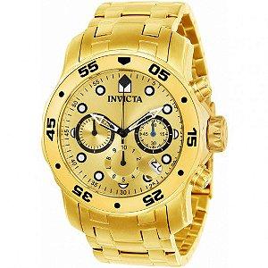Relógio Masculino Invicta Pro Diver 21924 Ouro 18K