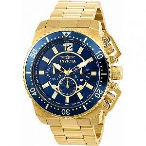 Relógio Masculino Invicta Pro Diver 21954 Ouro 18K