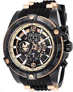 Relógio Masculino Invicta Marvel 26798 Preto e Rose