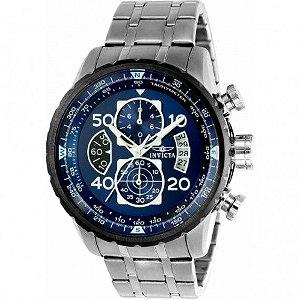 Relógio Masculino Invicta Aviator 22970 Prata