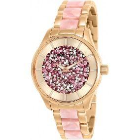 Relógio Feminino Invicta Angel 25244 Madre Perola Ouro Rose