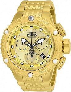Relógio Masculino Invicta 26648 Subaqua Dragon Dourado
