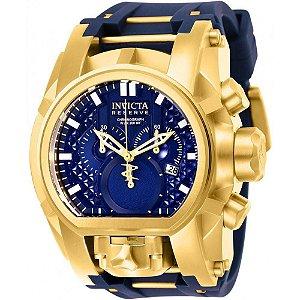 Relógio Masculino Invicta 25608 Bolt Zeus Magnum Swiss Banhado Ouro 18k