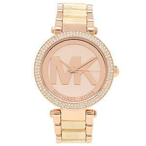 Relógio Feminino Michael Kors Mk6530 Rose Cravejado